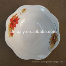 personalizado impresso mais recente projeto tigela de cerâmica branca