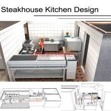 Shinelong Customized Projekt Steakhaus Küche Design obwohl Shinelong