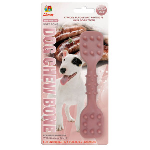 "Percell 6 ""Dura Chew Toy Dumbbell Sausage Scent"