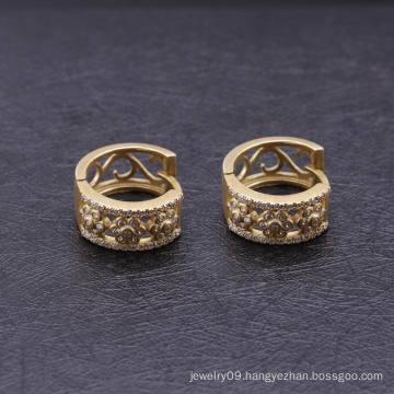 Cheap Fashion Diamond 18k Gold Plated Huggie Earrings