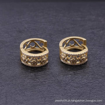 Brincos de Huggie de moda banhado a ouro 18k banhado a ouro
