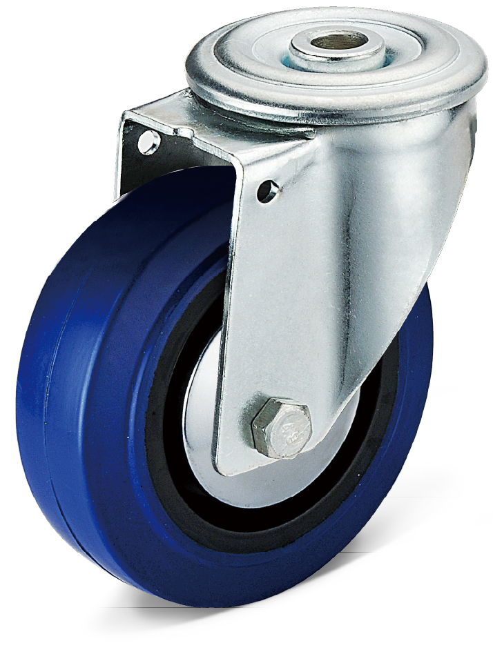 Elastic Rubber Bolt Hole Movable Casters