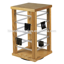 Jewellery Store Table Top Solid Wood Frame Acrylic Slot Earring Necklace Jewelry Spinner Display Rack