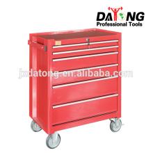 Стальной ящик с сундуков и шкафов ролика 4 колеса Рицинуса (красные)