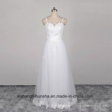 Backless Straps Chiffon China Wedding Dress Bridal Gown