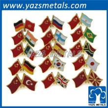 personalizada de fábrica de metal bandera de solapa de la solapa