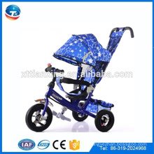 4 IN 1 push tricycle three Air wheel baby tricycle metal frame children's kids tricycle with roof/sunshade