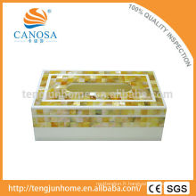 Papier en tissu Bouchon d'or Matière de Pearl Shell Tissue Box