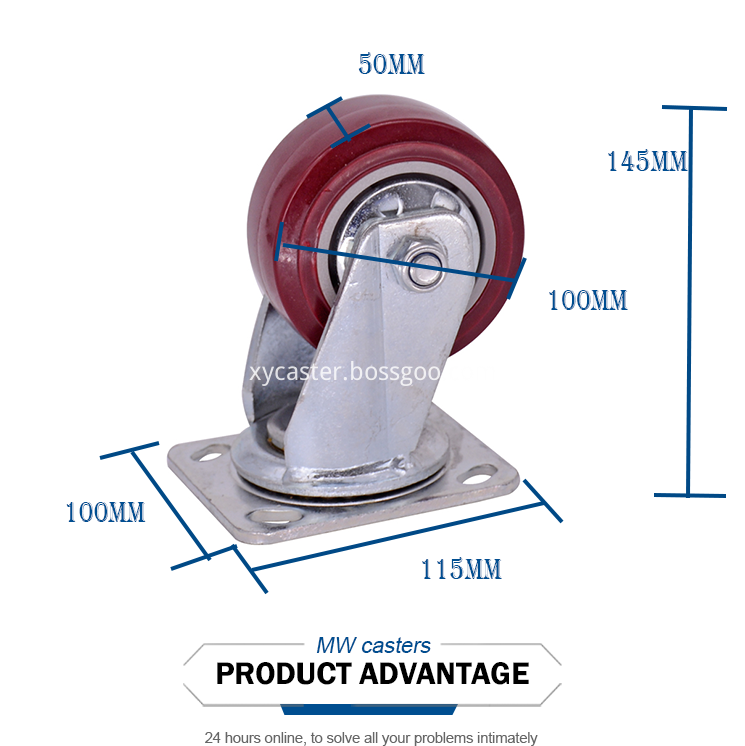 4 Inch Pvc Swivel Heavy Duty Caster