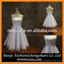 2016 без бретелек бисером пояса кружева Пеплум белый принцесса свадебное платье