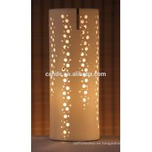 Lámpara de mesa hecha a mano de cerámica de los ornamentos de la Navidad de la porcelana