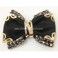 Nice Vintage Black Fabric Flower Shoe Clips