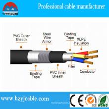 0.6 / 1kv 4 Kupferleiter Stahldraht gepanzertes Netzkabel