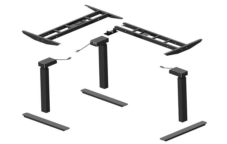 Degree L-Shaped Adjustable Standing Desk