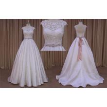 Бисероплетение Атласная Этаж Длина Свадебное Платье