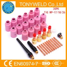 wp18 tig welding gun consumables 35PK tig welding parts kits
