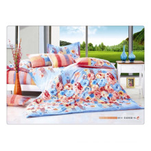 100 cotton 40s 128*68 soft beautiful flower high quality pigment printing luxury bed linen set