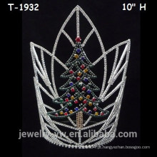 Grande, colorido, Cristal, Natal, árvore, coroas, Natal, pageant, coroas