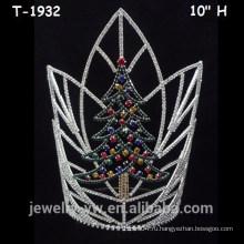 Большие цветные хрустальные рождественские елки, рождественские короны