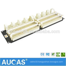 "1U 19"" 200 pair 110 voice patch panel / AMP telephone RJ11 voice wiring block / AUCAS patch panel cable management"