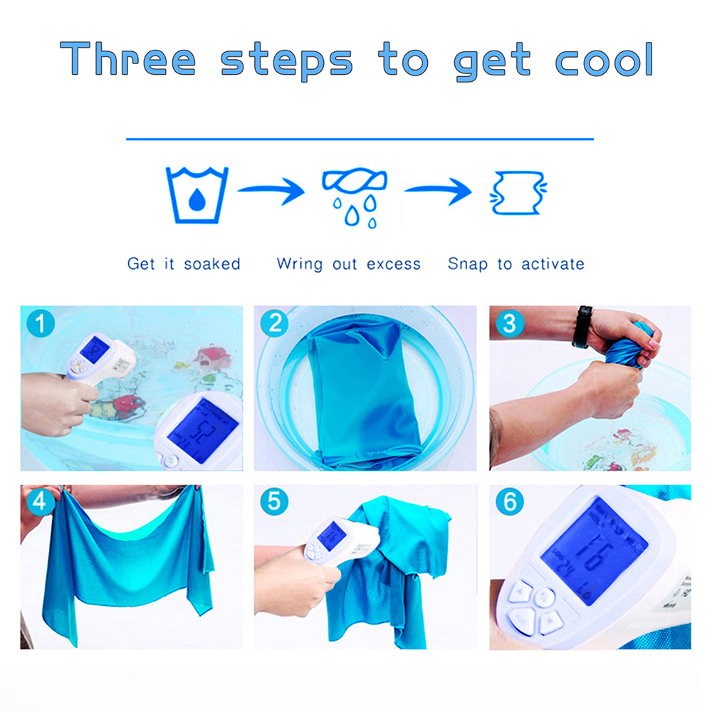 Steps to use cooling towel
