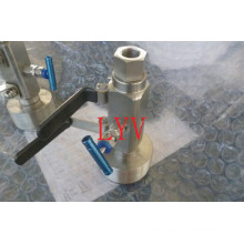 Stainless Steel Dbb Ball Valve with ISO5211 Top Flange