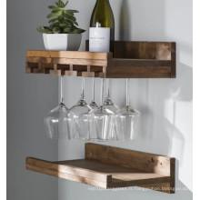 Porte-verre à vin en bois massif