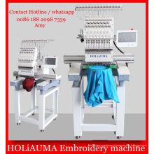 Máquina de bordado de Multi-função de cabeça de alta velocidade 1 / 3D tampão t-shirt bordado máquina