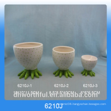 Elegant ceramic egg cup holder for Easter Day