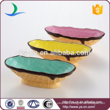 Hand Paint Ceramic Bowl With Ice Cream Design For Promotion Gift