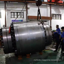 600lb Forged Steel Big Size Fixed Flange End Ball Valve