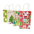 Weihnachtsdekoration-Geschenk-Taschen mit Griff, reizender Baum-Weihnachtsmann-kundenspezifische Weihnachtsgeschenk-Papiertüte
