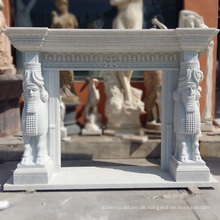 Hochwertige freistehende Kamin Carrara White Marble Surrounds