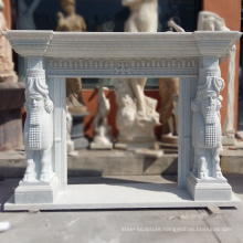 High Quality Freestanding Fireplace Carrara White Marble Surrounds