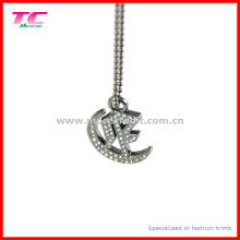 Glänzender silberner Metallanhänger für Dame Handbag