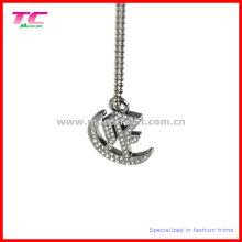 Shiny Silver Metal Pendant for Lady Handbag