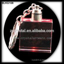 llavero en blanco de cristal