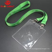 Lovecolour benutzerdefinierte transparent wasserdicht weichen ID-Kartenhalter für Lanyard