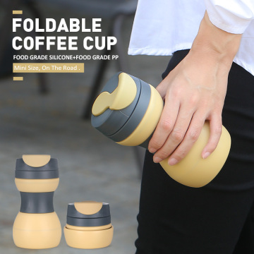 FDA+Silicone+Foldable+Drinking+Coffee+Cup+With+Cover