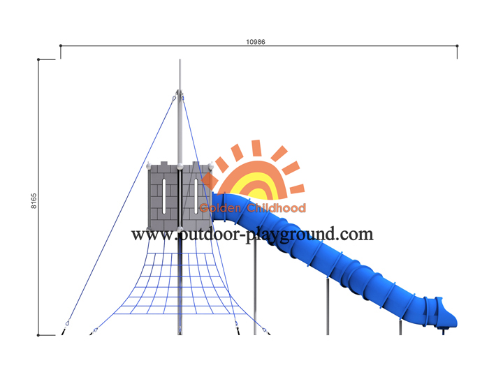 Indoor Toddler Playground With Tube Size