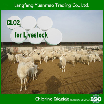 Table de dioxyde de chlore à vendre à chaud de 2015 pour la désinfection de l'élevage