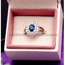 Anillos de cristal Noble piedras preciosas grandes moda para las mujeres