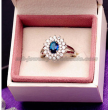 Anéis de cristal nobre Gemstone grande na moda para as mulheres