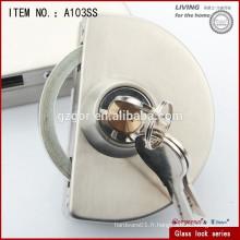 Verrouillage de porte en verre pour fournitures de chaîne