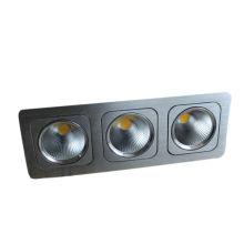 2013 nuevo diseño 3 * 10W tres cabeza COB LED Square Downlight