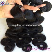 Enchevêtrement gratuit aucun hangar cheveux tissage en gros vierge cheveux corps vague meilleure vente non transformés 100% vison cheveux