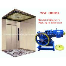 Elevador do passageiro de 630kg VVVF engrenado Motor máquina