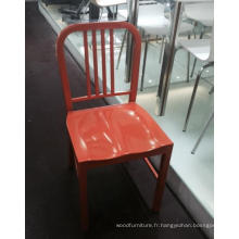 Chaises de restaurant en métal orange de conception simple pour la vente en gros (FOH-BCC13)