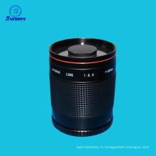 T-Mount 500mm F / 8 Reflex Mirror Macro Objectif de la caméra pour Nikon Canon DSLR SLR