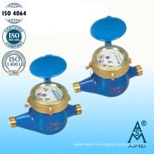 Contador del agua volumétrico del pistón rotatorio tipo seco latón